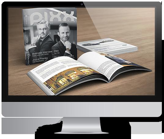 Im PIXX Magazin erfolgreich werben