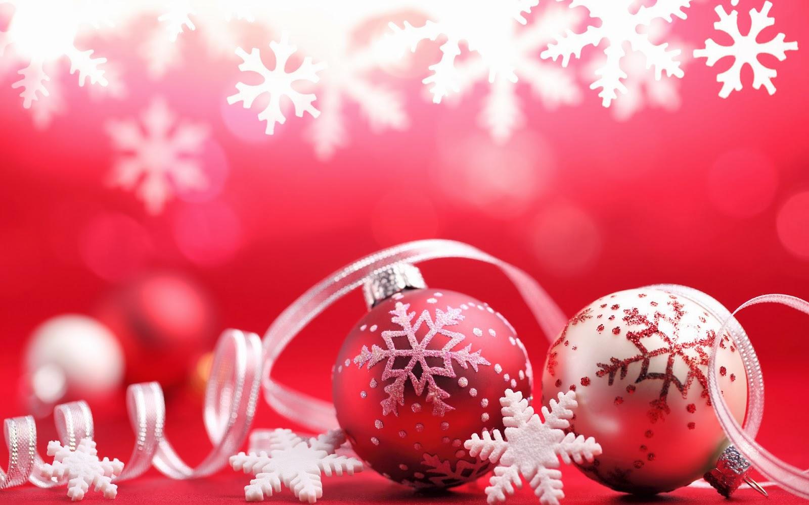 Bilder Roten Wallpaper Mit Weihnachtskugeln Und Schnee Hd